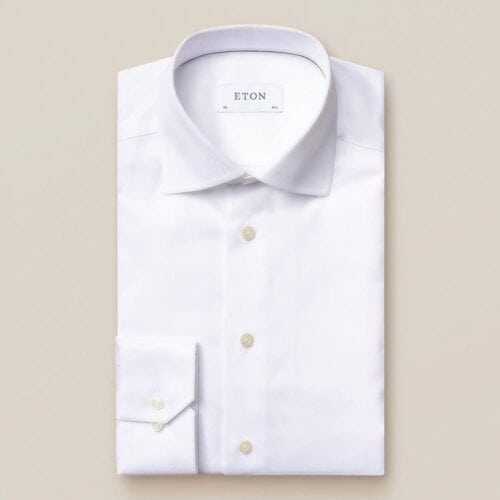 Eton of sweden - contemporary hvit twill